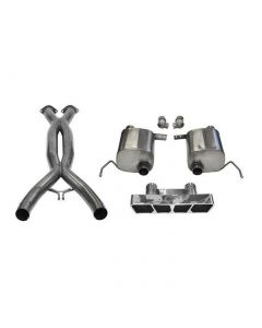 14-19 LT1 & 17-19 GS w/Auto Corsa Double Helixx X-Pipe & Sport Valve-Back Exhaust System w/Polished Polygon Tip