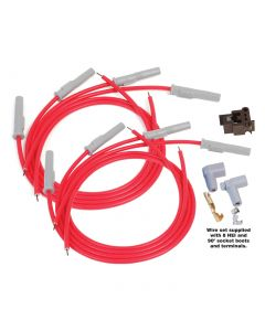 55-91 MSD Super Conductor Spark Wire Set (Multi Angle Plug Boot)