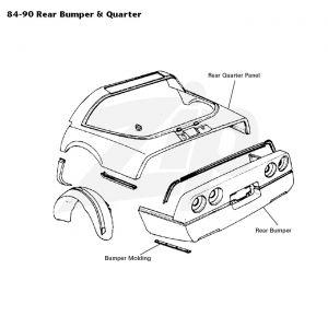 84-96 Coupe Rear Quarter Panel