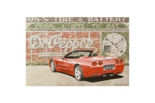 Corvette One Red Hot Pepper - Dana Forrester Print