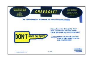 1969-1972 Corvette Owners Manual Bag