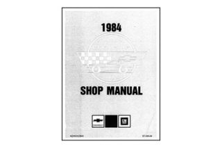 1984 Corvette Shop/Service Manual