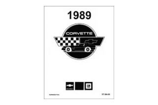 1989 Corvette Shop/Service Manual