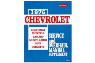 1976 Corvette Shop/Service Manual Supplement