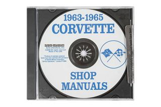 1963-1965 Corvette Shop/Service Manual on CD