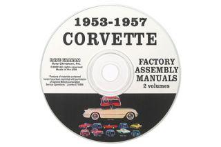 1953-1957 Corvette Assembly Manuals on CD