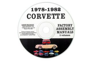 1978-1982 Corvette Assembly Manual on CD