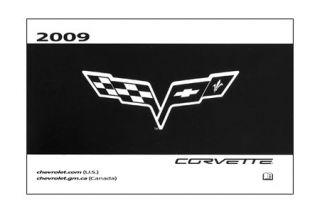 2009 Corvette Owners Manual