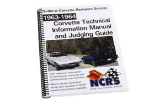 1963-1964 Corvette NCRS Judging Manual (New Expanded Edition)