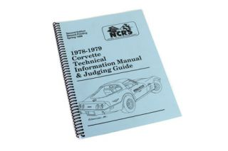 1978-1979 Corvette NCRS Judging Manual