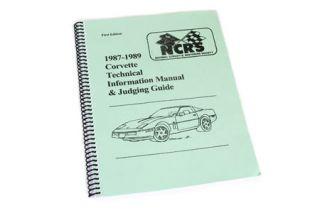 1987-1989 Corvette NCRS Judging Manual