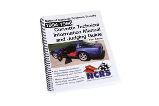 1994-1996 Corvette NCRS Judging Manual (Expanded Edition)