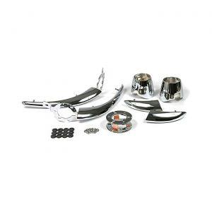 56-57 Rear Exhaust 6-piece Chrome Set