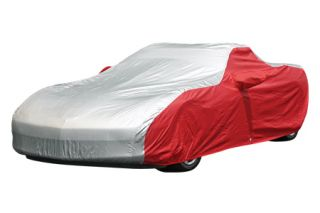 2005-2013 Corvette Intro-Guard Two-Tone Car Cover w/Embroidered C6 Emblem