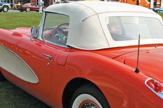 1959 Corvette Convertible Top Assembly - White
