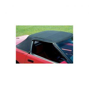 1986-1993 Corvette Convertible Top Canvas - Stayfast Cloth - Black