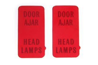 """1972-1976 Corvette Center Gauge Bezel """"Headlight/Door Ajar"""" Lens"""