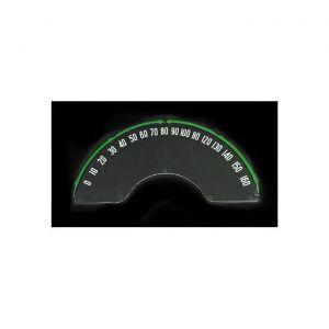 58-62 Speedometer Lens w/Numbers