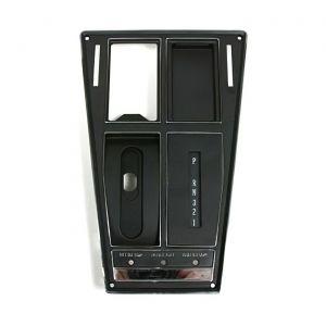69 Auto w/o AC Shifter Console Upper Trim Plate