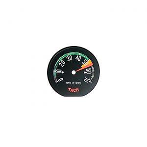 60E Tachometer Face - Low Rpm