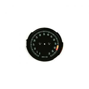 65-67 6000rpm Tachometer Face Plate