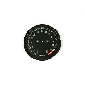 65-67 6500rpm Tachometer Face Plate