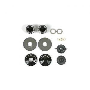 59-60 Radio Knob, Spacer & Backplate Set (12pcs)