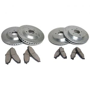 """88-95 12"""" Power Stop Drilled & Slotted Rotors w/Z26 Warrior Brake Pads (Default)"""