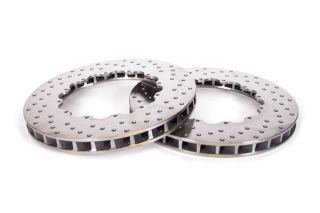 """06-13 ZO6/GS Front 14"""" 2pc Drilled Brake Rotor Replacement Rings"""