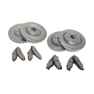 05-13 Z51 Power Stop Drilled & Slotted Rotors w/Ceramic Brake Pads