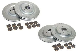 06-13 Z06/GS Power Stop Drilled & Slotted Rotors w/Ceramic Brake Pads