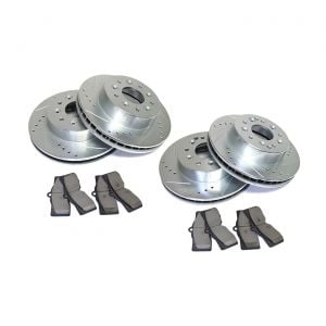 65-82 Power Stop Drilled & Slotted Rotors w/Ceramic Brake Pads