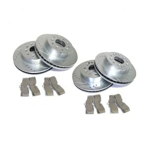 65-82 Power Stop Drilled & Slotted Rotors w/Z26 Warrior Brake Pads