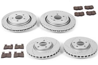 14-18 JL9 Power Stop Drilled & Slotted Rotors w/ Z23 Brake Pads
