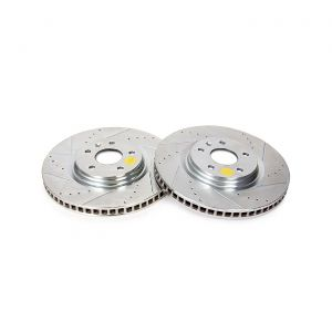 14-18 J55 (Z51) Power Stop Drilled & Slotted Front Rotors (Full-Cast Rotor)