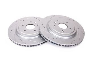 14-18 J55 (Z51) Power Stop Drilled & Slotted Rear Rotors (Full-Cast Rotor)