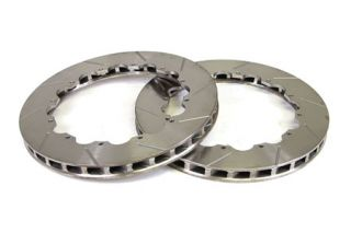 1997-2013 Corvette Rear 2pc Slotted Brake Rotor Replacement Rings