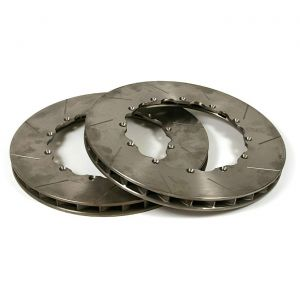 """2006-2013 Corvette Z06/Grand Sport Rear 13"""" 2pc Slotted Brake Rotor Replacement Rings"""