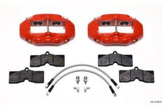 1965-1982 Corvette D8-4 Wilwood Aluminum Front Brake Kit (Red)