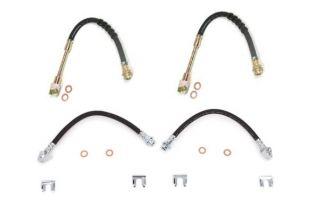 84-87 Rubber Brake Hose Set w/Washers & Clips