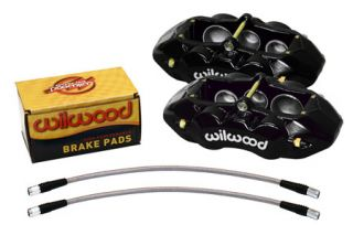 65-82 D8-6 Wilwood (6-Piston) Front Brake Kit (Black) (Default)