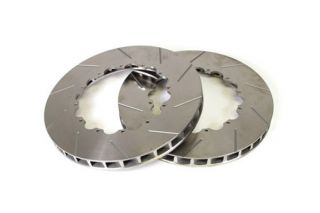 """06-13 ZO6/GS Front 14"""" 2pc Slotted Brake Rotor Replacement Rings"""