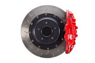 14-18 AP Racing Radi-Cal Rear 4-Piston Brake Package w/Rotors (Brake Color_Rotor Surface)