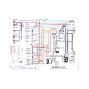 53-54 & 55 6-cyl Color Wiring Diagram (18 x 24)