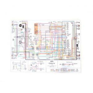 73 Color Wiring Diagram (18 x 24)