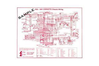 1953-1955 Corvette 6-Cylinder Wiring Diagram