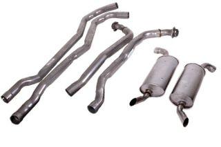 "74 350 L82 Auto 2-2 1/2"" Exhaust System w/Round Mufflers"