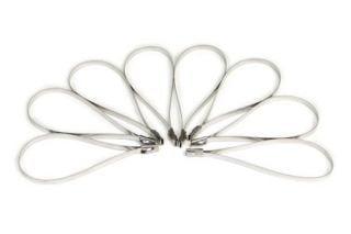 """Header Wrap 8"""" Stainless Locking Ties (8 Pack) (Default)"""