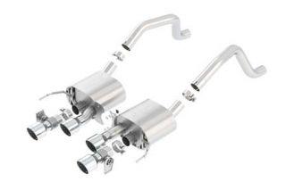 """15-18 Z06 w/NPP Borla ATAK Exhaust System w/4.25"""" Round Intercooled Tips"""