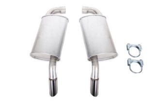 78-82 2 1/2in Premium Oval Mufflers w/Stainless Tips